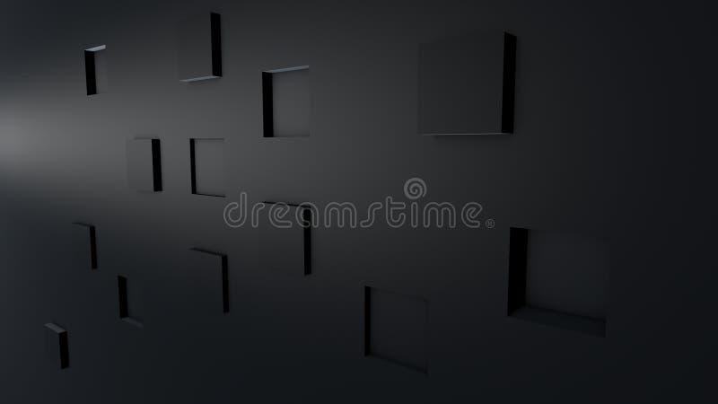 Abstrakcjonistyczni 3D tła sześciany obrazy royalty free