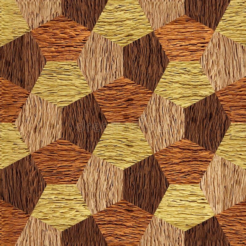 Abstrakcjonistyczni dekoracyjni bloki drewniana tekstura - bezszwowy tło - ilustracji