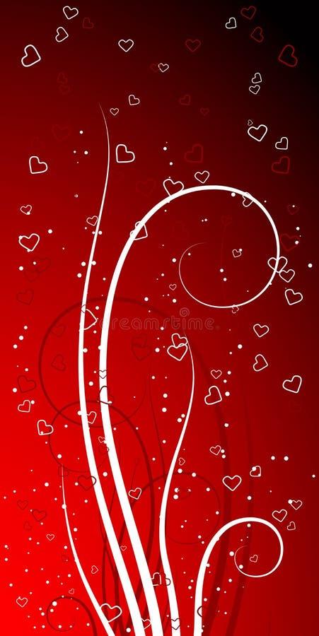 abstrakcjonistyczni dni valentines tło ilustracja wektor