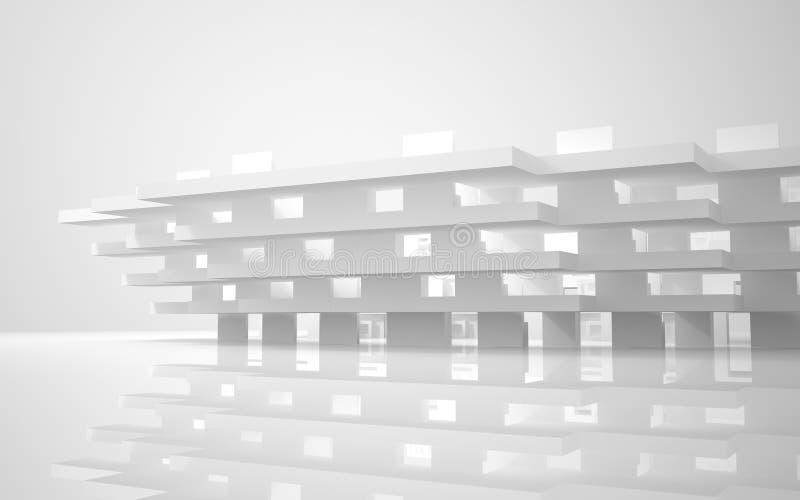 abstrakcjonistyczni dom miejski ilustracji