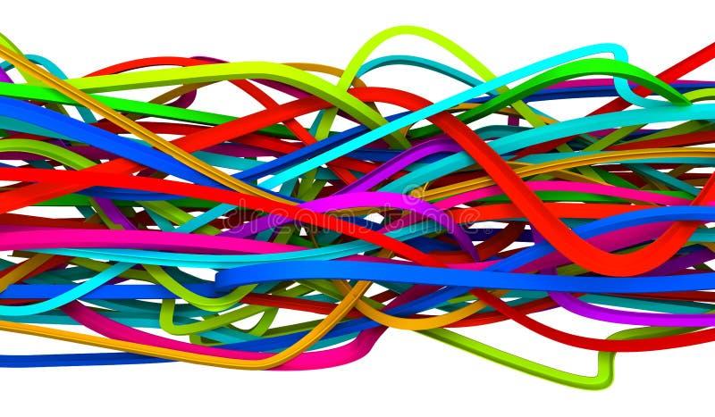abstrakcjonistyczni druty royalty ilustracja
