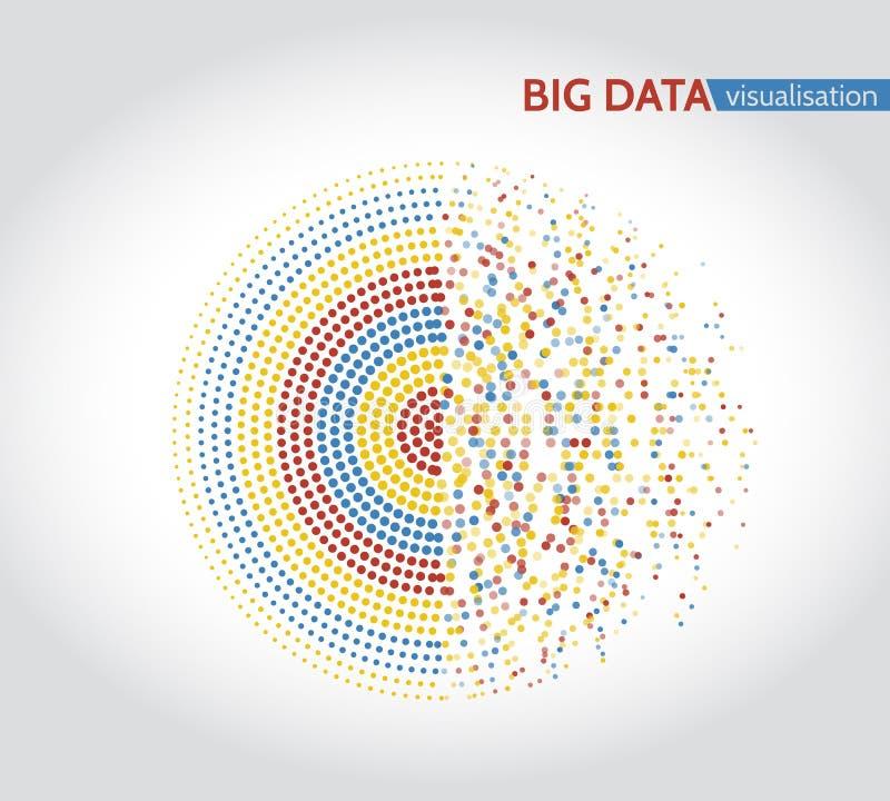 Abstrakcjonistyczni duzi dane maszynowego uczenie algorytmy ilustracja wektor