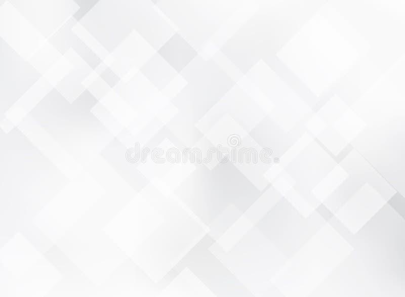 Abstrakcjonistyczni eleganccy szarości i białych kwadraty deseniują tła textu ilustracja wektor