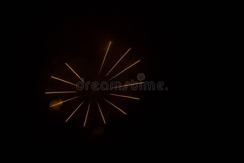 Abstrakcjonistyczni fajerwerki: Szprychy koło w nocy zdjęcia royalty free