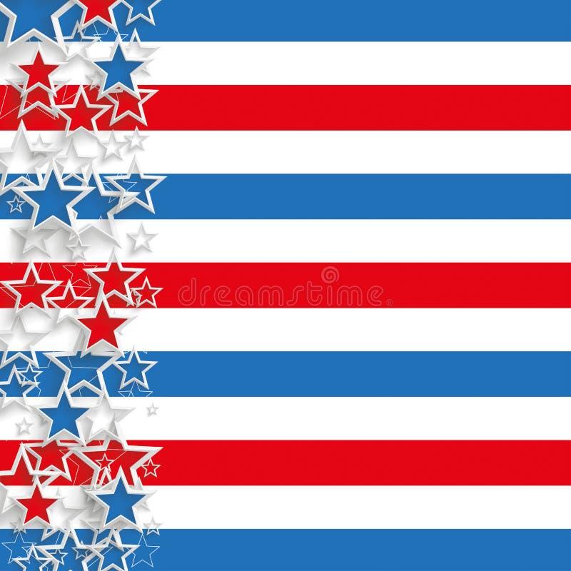 Abstrakcjonistyczni flaga pokrywy gwiazd lampasy ilustracja wektor