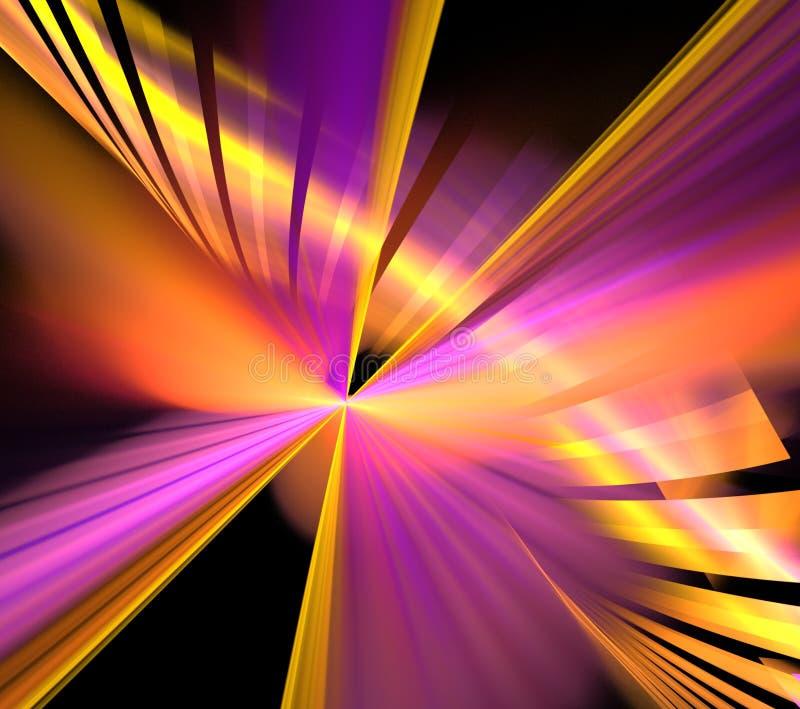 Abstrakcjonistyczni fractal fajerwerki przy nowym rokiem zdjęcie stock