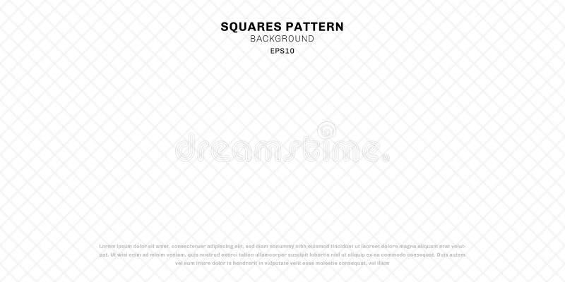 Abstrakcjonistyczni geometryczni biali bezszwowi kwadraty deseniują tło i teksturę ilustracji