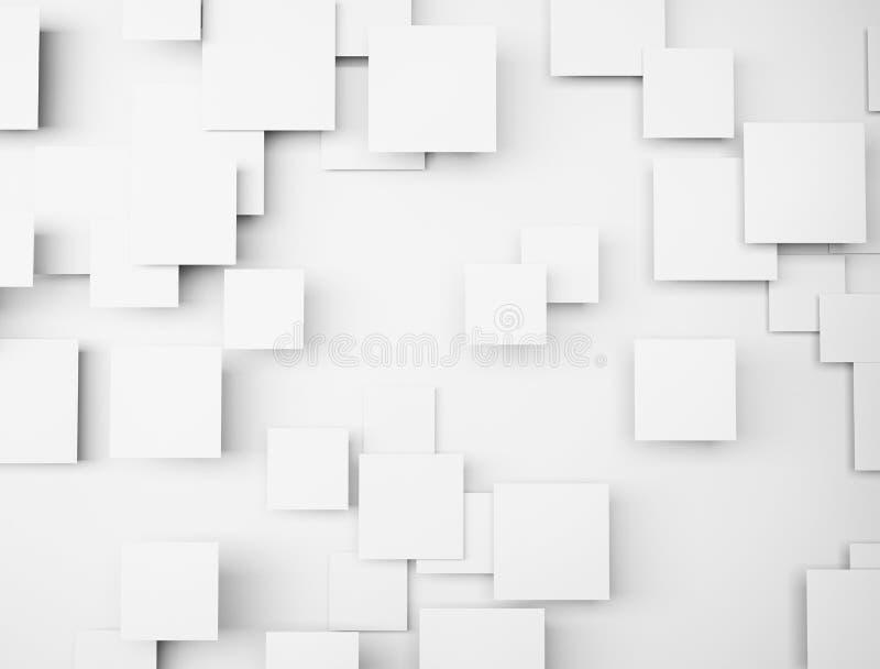 Abstrakcjonistyczni geometryczni biali sześciany royalty ilustracja