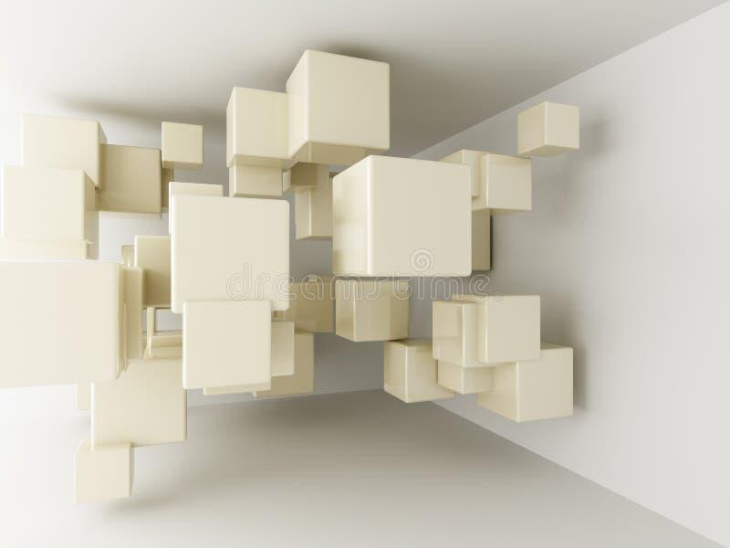 abstrakcjonistyczni geometryczni kształty royalty ilustracja