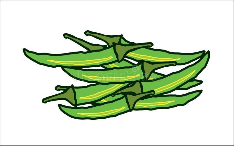 Abstrakcjonistyczni gorący zieleni chillies royalty ilustracja