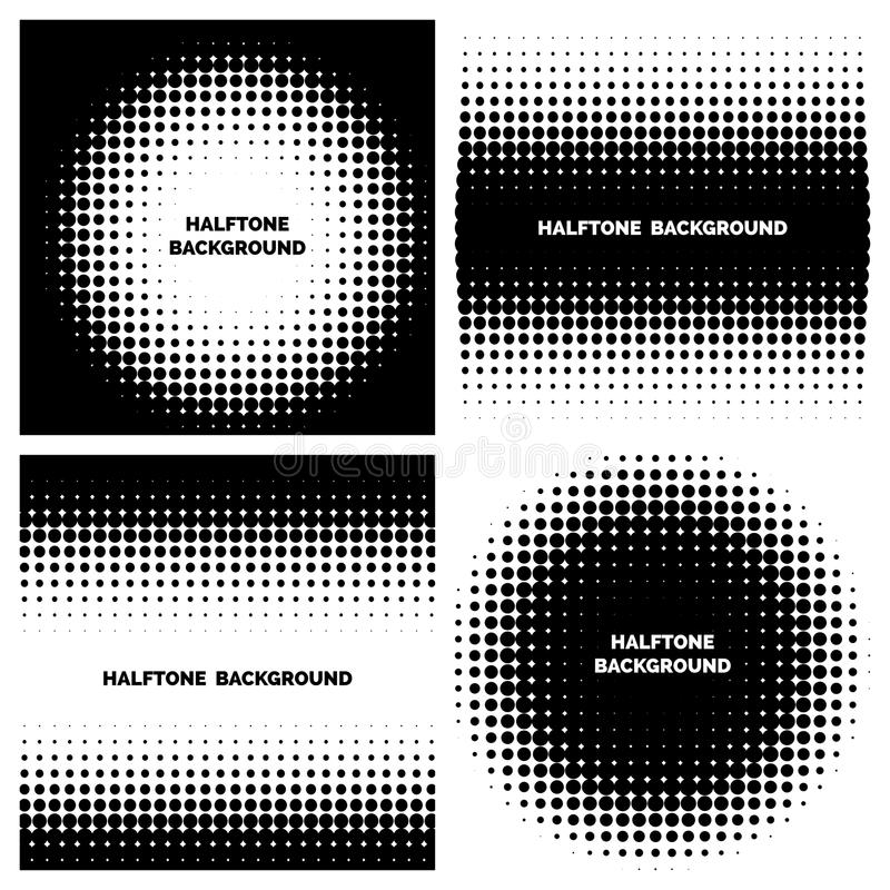 Abstrakcjonistyczni halftone tła z tekstem royalty ilustracja