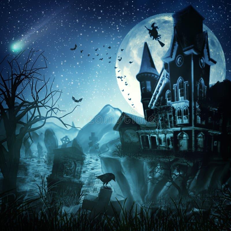 Abstrakcjonistyczni Halloweenowi tła ilustracji