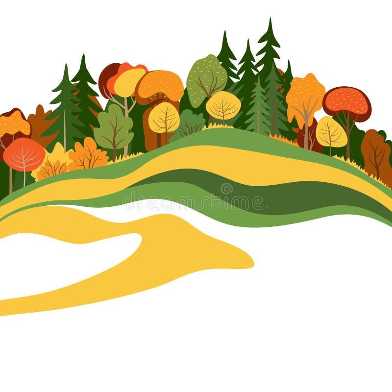 Abstrakcjonistyczni jesieni drzewa ilustracja wektor