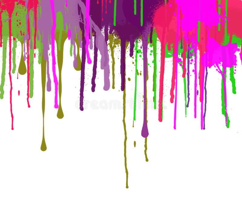 Abstrakcjonistyczni kapinosy Dekorująca farby pustego miejsca powierzchnia royalty ilustracja