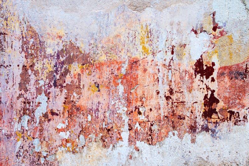 abstrakcjonistyczni kolorach tła Rocznik ściana fotografia stock