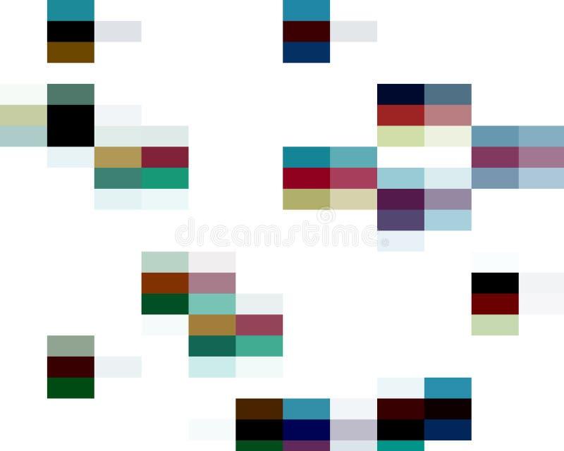 Abstrakcjonistyczni kolorowi żywi kwadratów kształty, grafika, geometrie, tło i tekstura, royalty ilustracja