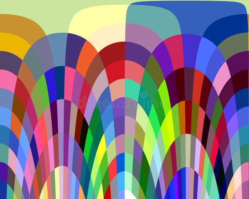 Abstrakcjonistyczni kolorowi figlarnie kształty, grafika, geometrie, tło i tekstura, ilustracja wektor