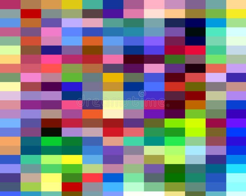 Abstrakcjonistyczni kolorowi figlarnie kwadratowi kształty, grafika, geometrie, tło i tekstura, ilustracja wektor