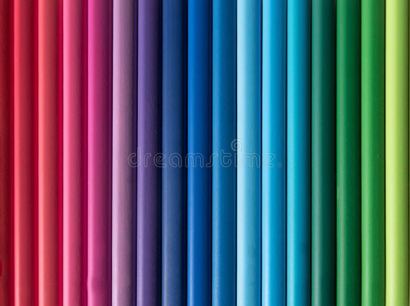 Abstrakcjonistyczni kolorystyka ołówki obraz stock