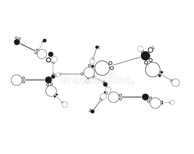 Abstrakcjonistyczni komunikacyjni tła. ilustracja wektor