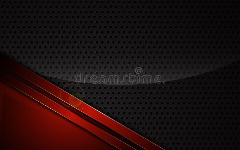Abstrakcjonistyczni kruszcowi czerwieni ramy sporty projektują techniki innowaci pojęcia tła szablon ilustracji