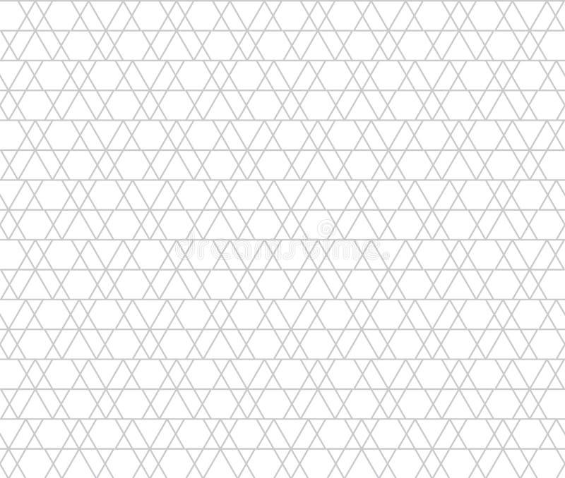 abstrakcjonistyczni kształty geometryczni Szarzy trójboki bezszwowy wzoru royalty ilustracja