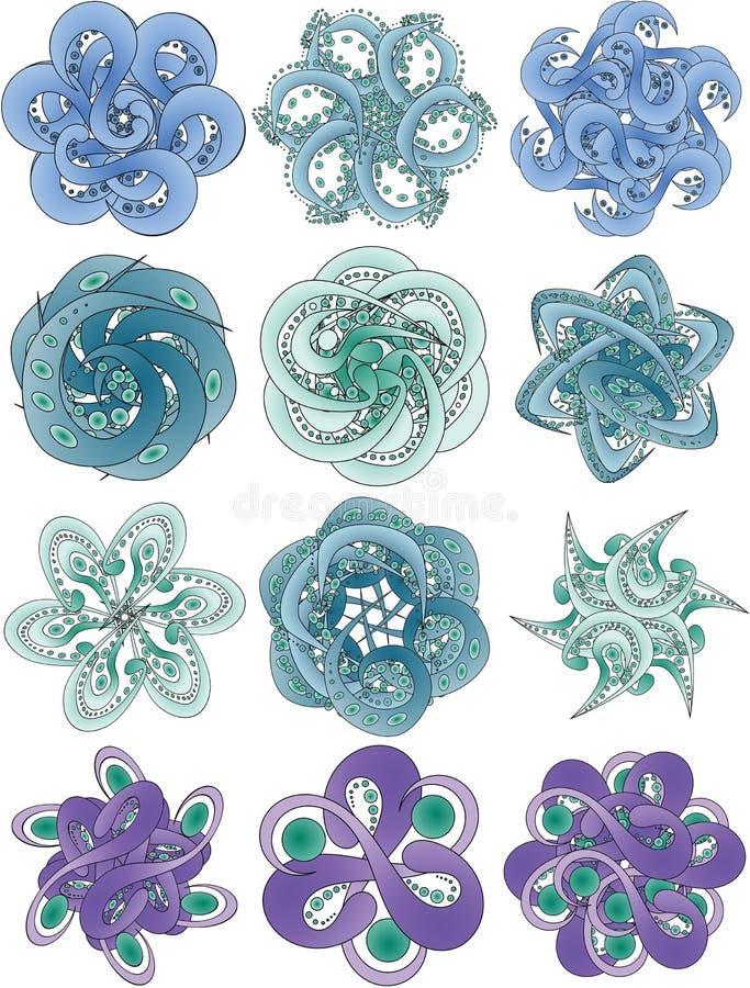 Abstrakcjonistyczni kwiatów czułki ilustracji