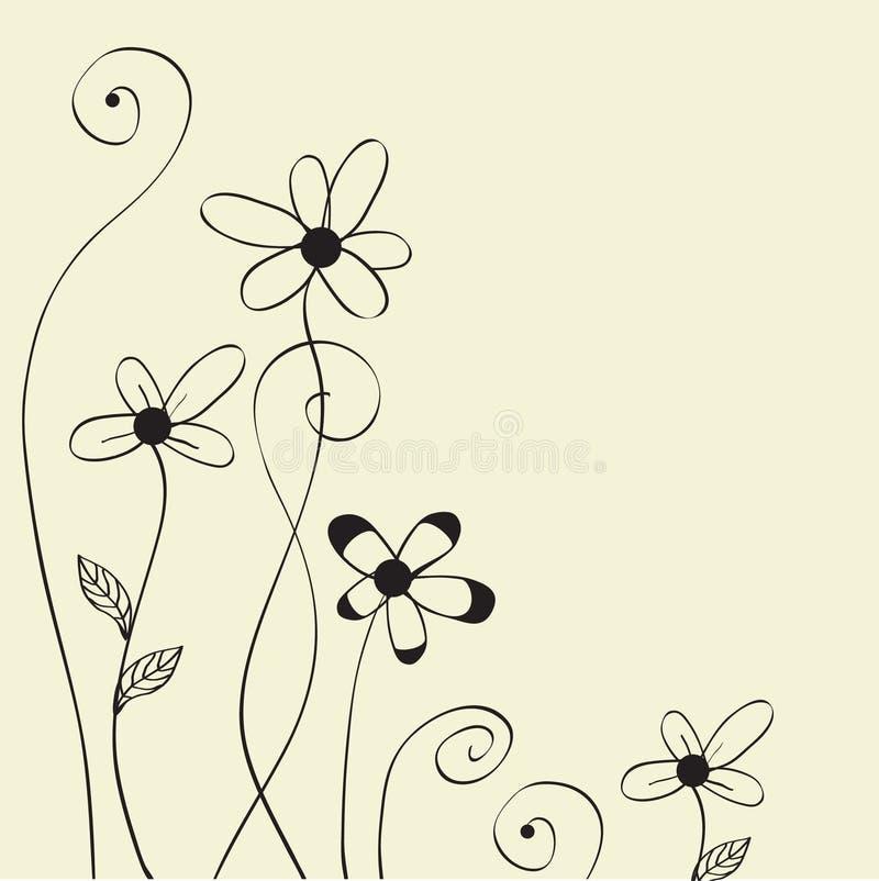 abstrakcjonistyczni kwiaty royalty ilustracja