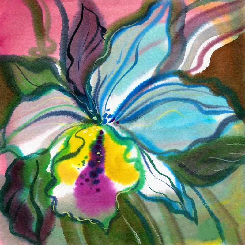 abstrakcjonistyczni kwiaty ilustracja wektor