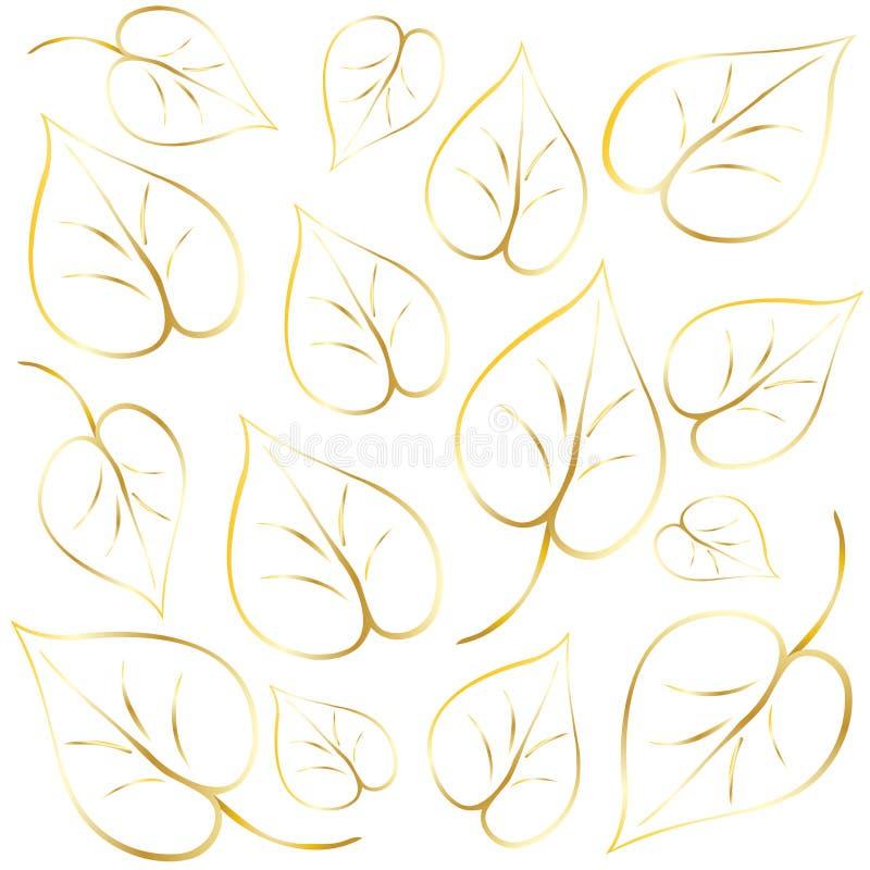 abstrakcjonistyczni liście tło royalty ilustracja