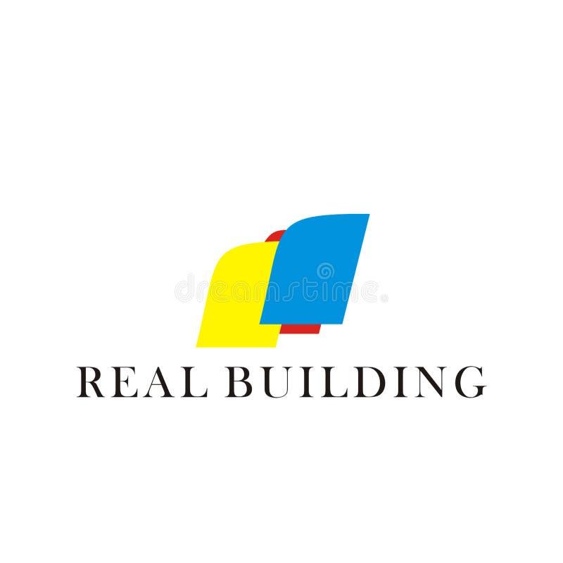 Abstrakcjonistyczni logo, buduje logo, lokalowi logo, istni budynków logo, ilustracje, wektory ilustracja wektor