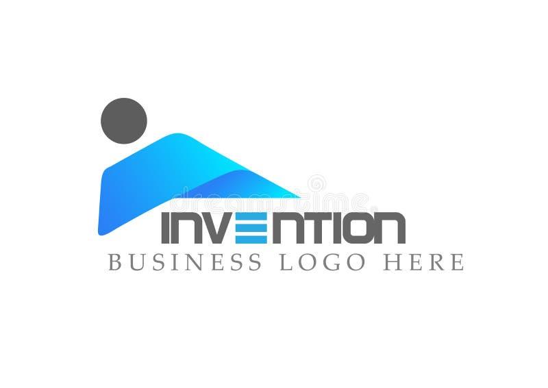 Abstrakcjonistyczni ludzie loga na Korporacyjnych Inwestujących ludziach biznesu loga projekta Pieniężnej inwestyci loga pojęcia  ilustracji