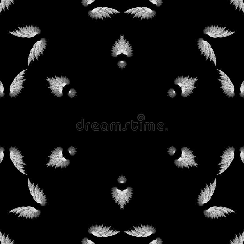 Abstrakcjonistyczni mandala projekta szablonu piórka ilustracja wektor