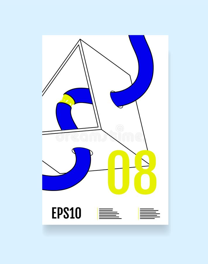 Abstrakcjonistyczni minimalni geometryczni kształty projektują tło dla raportowej książki, pokrywa, broszurka, ulotka, plakat royalty ilustracja