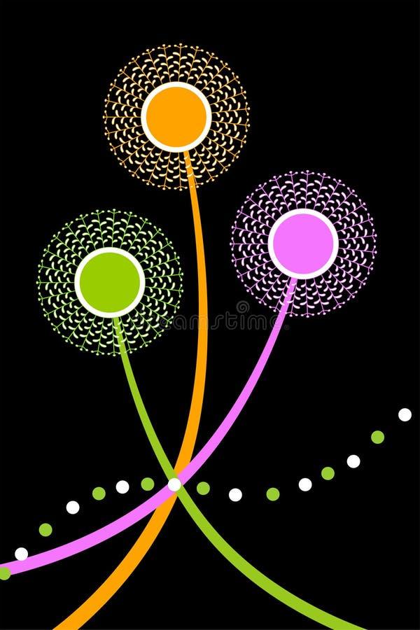 abstrakcjonistyczni mleczy ilustracja wektor