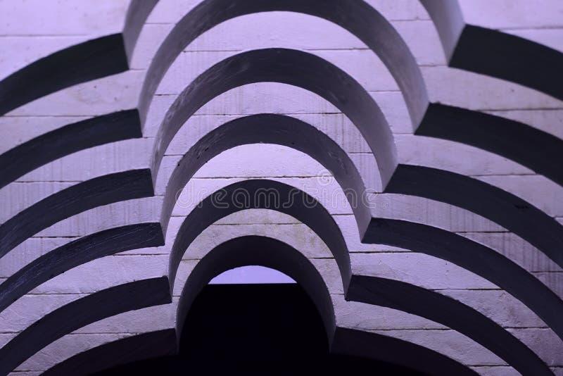 Abstrakcjonistyczni monochrom krzyw kształty zdjęcia royalty free