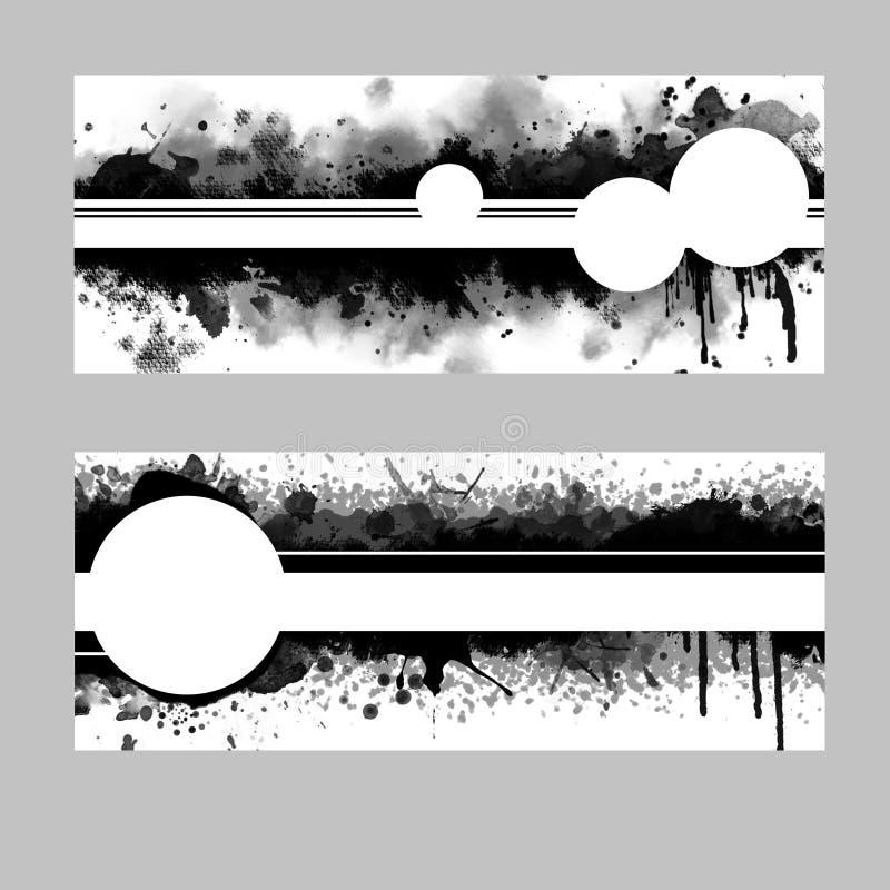 Abstrakcjonistyczni Monochromatic szablony w Czarny I Biały ilustracji