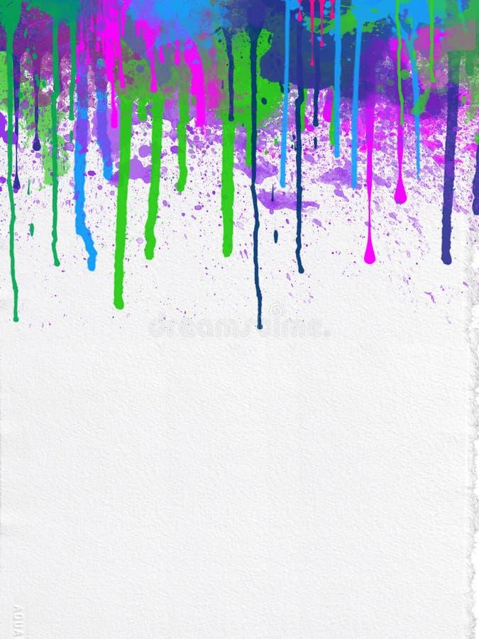 Abstrakcjonistyczni Neonowi kapinosy Dekorująca farby pustego miejsca powierzchnia ilustracji