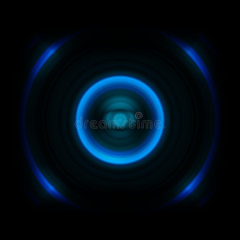 Abstrakcjonistyczni niebieskich oczu odbicia na czarnym tle ilustracji
