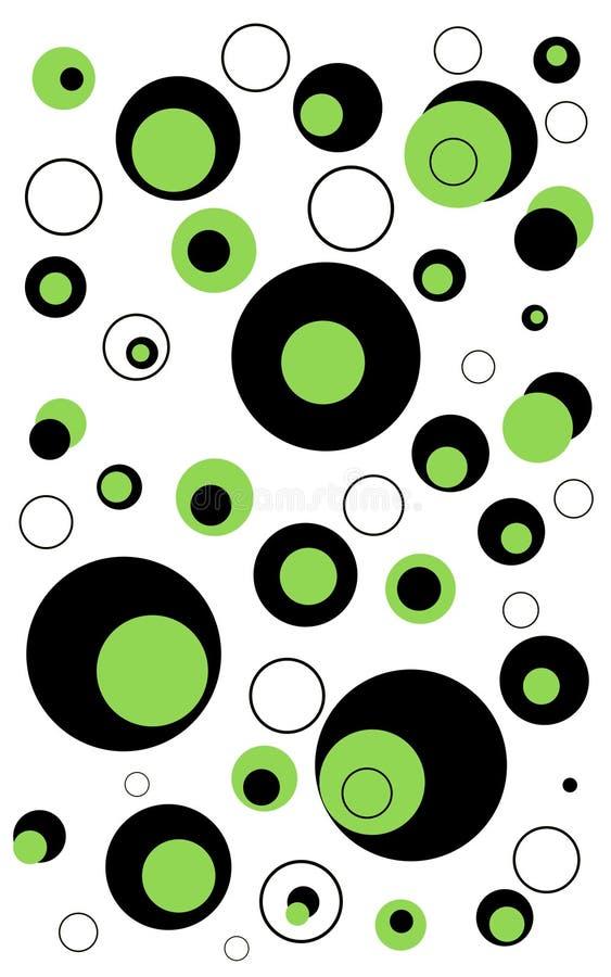 abstrakcjonistyczni okręgi tło royalty ilustracja