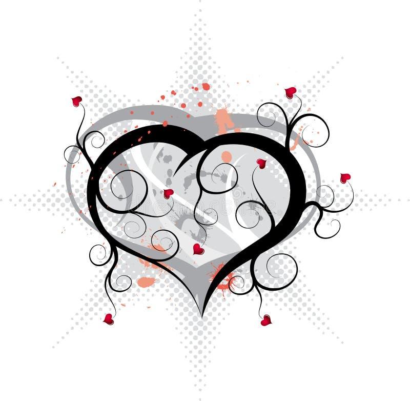 abstrakcjonistyczni ornamentów valentines położenie royalty ilustracja