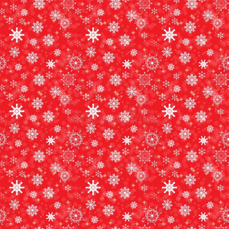 Abstrakcjonistyczni piękno boże narodzenia i nowego roku tło z śniegiem i płatkami śniegu bezszwowy wzoru również zwrócić corel i royalty ilustracja