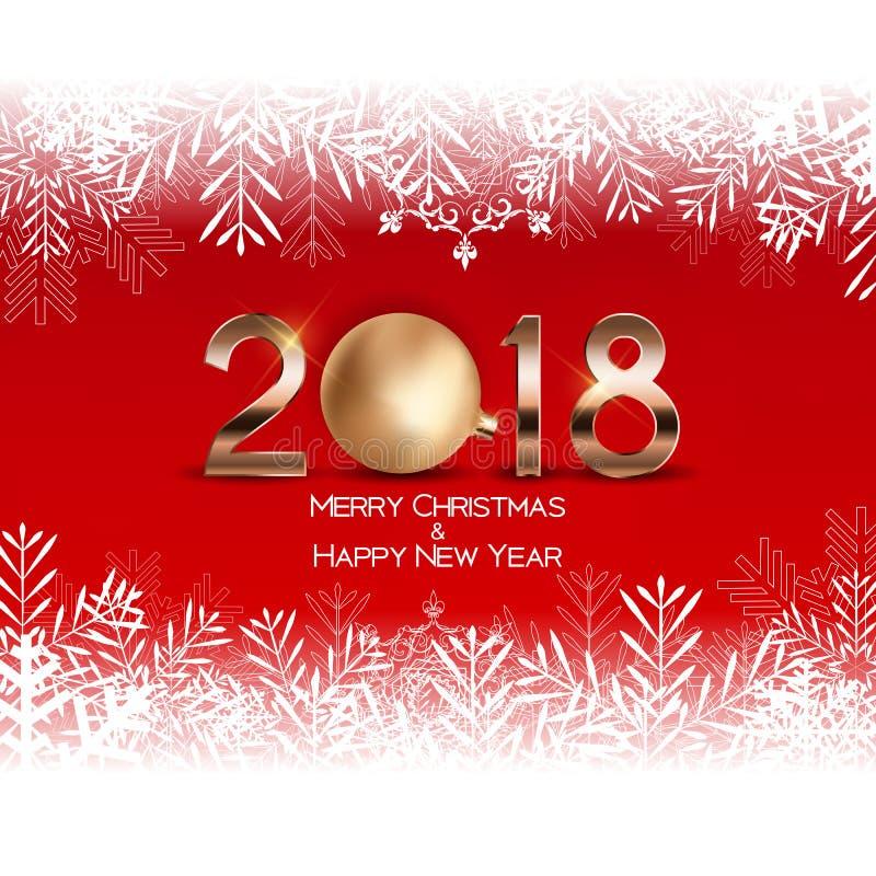 Abstrakcjonistyczni piękno boże narodzenia i 2018 nowy rok tło również zwrócić corel ilustracji wektora ilustracja wektor