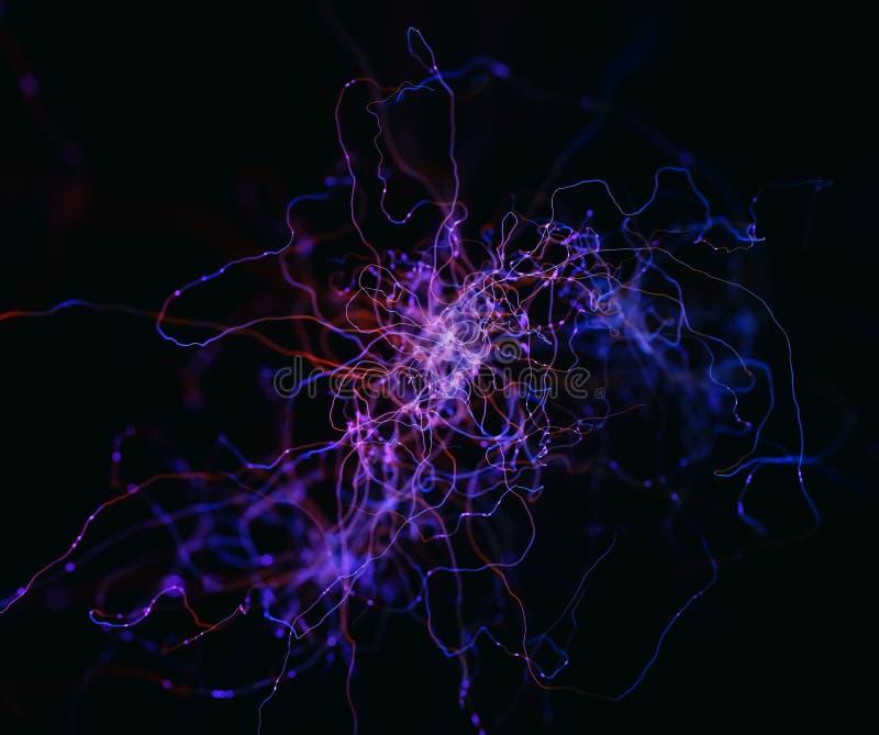 Abstrakcjonistyczni pojęcie neurony ilustracja wektor