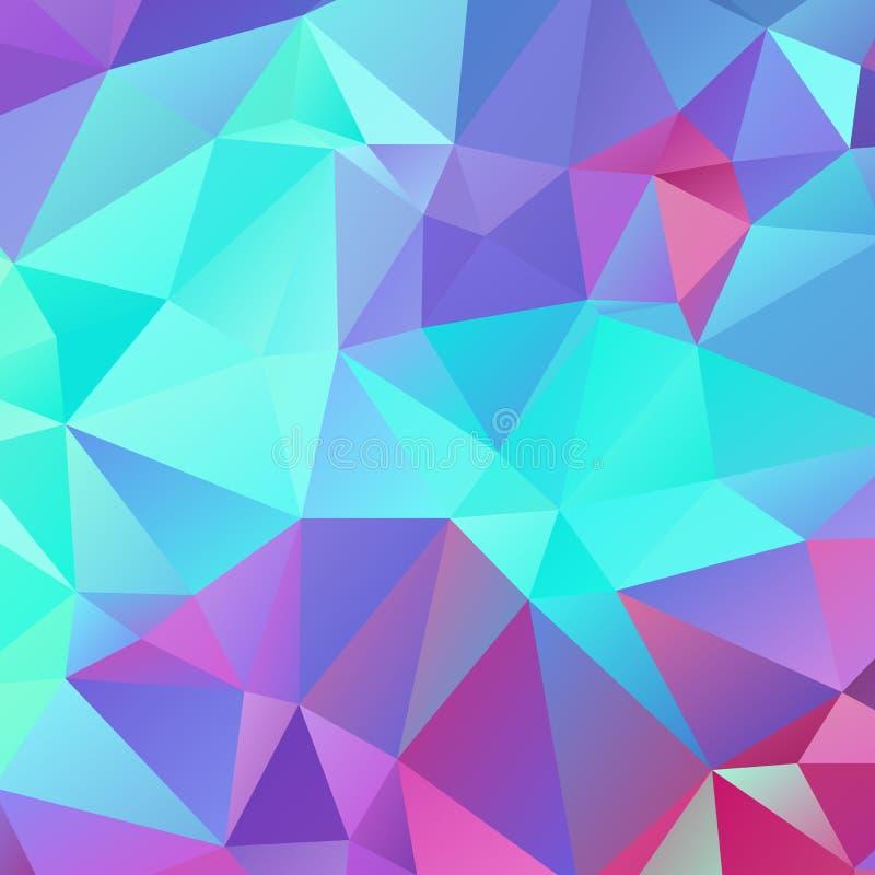 Abstrakcjonistyczni poligonalni mozaik tła royalty ilustracja