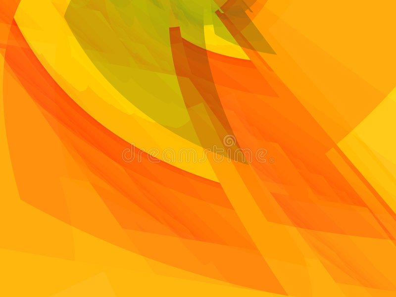 abstrakcjonistyczni pomarańczowej czerwonym kształty ilustracja wektor