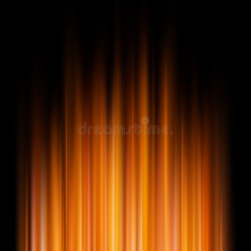 Abstrakcjonistyczni pomarańczowi światła na ciemnym tle 10 eps ilustracji