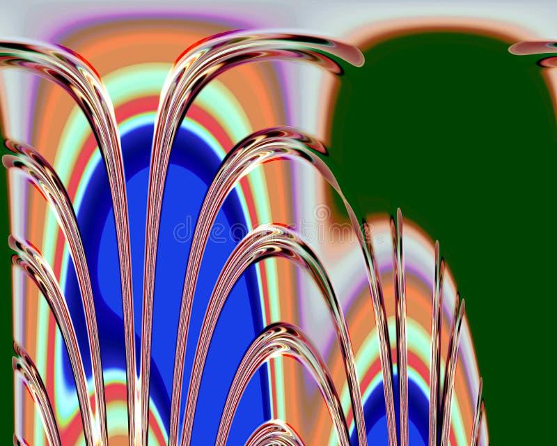 Abstrakcjonistyczni pomarańczowi zielonego szkła rzadkopłynni kształty, grafika, geometrie, tło i tekstura, ilustracja wektor