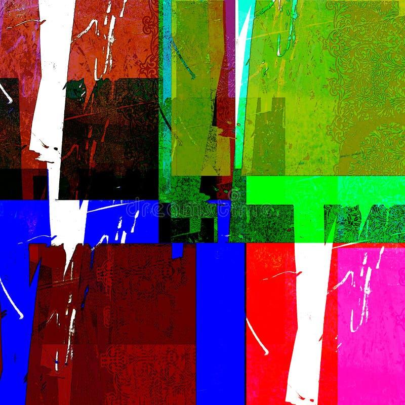 abstrakcjonistyczni prostokąty kolor ilustracja wektor