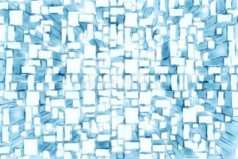 abstrakcjonistyczni prostokąty tło royalty ilustracja